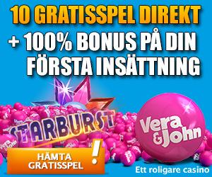 Vera & John – 10 Free Spins on Starburst